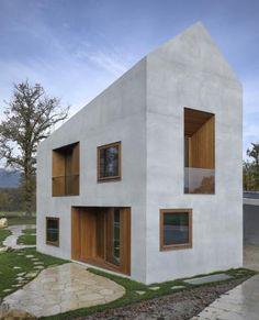 Bau der Woche: Deux maisons en une - clavienrossier architectes hes / sia