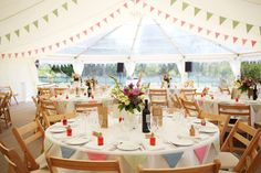 Beach marquee wedding blackpool sands devon image courtesy of lovely country style wedding marquee with clear roof jugs of flowers hanging bunting junglespirit Gallery