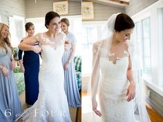 Gorgeous Romona Keveza Bride Erin puts on her Legends gown L5101 at her North Carolina wedding. | 6 of Four Photography
