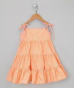 Take a look at this Orange Tier Dress - Infant, Toddler & Girls by De n' L on #zulily today!