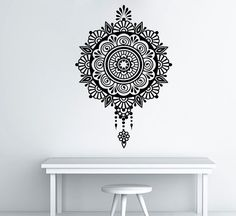 Mandala Wall Decal Namaste Decal Vinyl Sticker by BestDecals