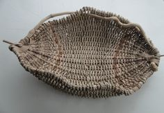 Honeysuckle basket # 1413 With maple, seagrass, willow, and reed