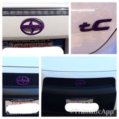 2007 Scion Tc Purple dripped emblems. Getting my baby ready for the summer.  CC