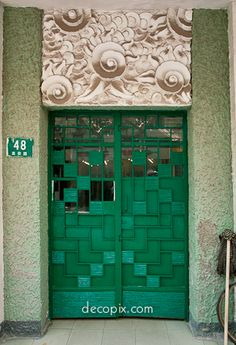 Art Deco Entrance, Washington Flats, Shanghai - China.  The cloud pattern is one of my favs - I love seeing it around Shanghai.