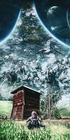 Artwork Type: Print Medium: Giclee Printing Pigment Inks on Museum Grade Fine Art Digital Archival Paper Artwork Description: An armored traveller makes a homestead on a populated ringworld. Halo game