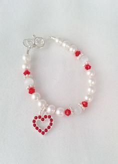 Mi Amore Jewels - Red Heart Bracelet, $27.00 (http://www.miamorejewel.com/red-heart-bracelet/)