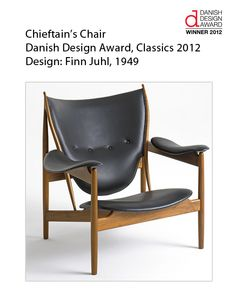 """Finn Juhl's Chieftan Chair was the Classics Award at the 2012 Danish Design Awards.   """"One cannot create happiness with beautiful objects, but one can spoil quite a lot of happiness with bad ones."""" - Finn Juhl"""