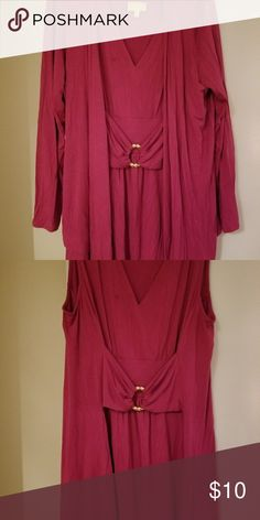 Women's 2 pc cardigan pretty size xl Pretty pinkish color size XL but should be Xl/1X by Liz Lane it has a tiny spot but cleaned it will be new worn 1 time Tops Tunics