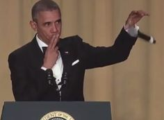 """President Obama ended his final White House Correspondents Dinner with what was the coolest exit by a president in history. The President said, """"Obama out,"""" dropped the mic and walked away from the podium."""