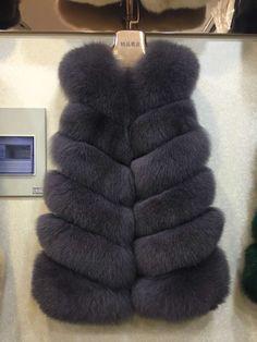 WomenS 100% Real Whole Fox Fur Vest Gilet Fashion Waistcoat Winter Jacket