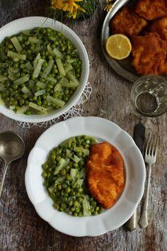 Karalábés zöldborsófőzelék recept