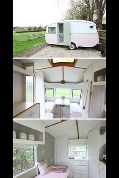 I have a huge confession, I love me a caravan, especially an old style 50's retro but this one is also divine.
