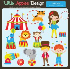Circus ClipArt / Circus Clip Art / Carnival by LittleApplesDesign, $5.00