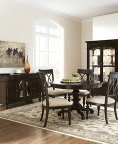 Perfect table at Macy's for kitchen  Details: Bradford Dining Room Furniture Collection, Round - Dining Room Furniture - furniture - Macy's