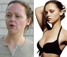 Christina Ricci without makeup or photoshop. Yep, looks like a normal person.