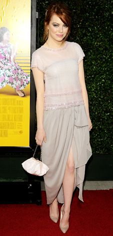 """Emma Stone in Chanel (2011 L.A. premiere of """"The Help"""")"""