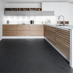 Liv i køkkenet Kitchen Trends, Kitchen Sets, Kitchen Dining, Kitchen Decor, Nordic Kitchen, Scandinavian Kitchen, Black Kitchens, Home Kitchens, Kitchen Cabinet Storage