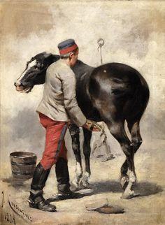 JOSEP CUSACHS Military Art, Military History, Historical Art, Human Emotions, Napoleonic Wars, Photo Art, Horses, Baseball Cards, Artwork