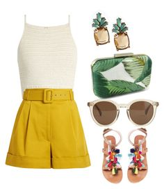 """""""Untitled #874"""" by shreyatorvi ❤ liked on Polyvore featuring SHE MADE ME, Isa Arfen, Steve Madden, J.Crew and Banana Republic"""