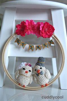 Gehaakt bruidspaar vogeltjes voor 50-jarig huwelijk – Cuddlycool