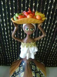 Resultado de imagem para bonecas de biscuit e cabaça African Dolls, Painted Gourds, Half Dolls, Tropical Art, Polymer Clay Projects, Gourd Art, Button Crafts, Bottle Art, Paper Dolls