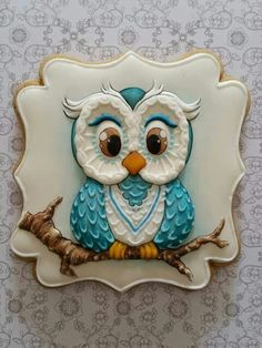 Detailed Owl Cookie
