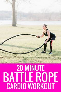 Try something new when it comes to your cardio routine. Instead of running, grab a battle rope and slam the calories and fat away with a variety of exercises. Click here for a free 20 minute battle rope workout routine.