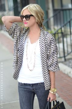 Love this look- Jacket, top, denims, watch, shades. Perfect.