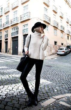lisbon street style in b&w