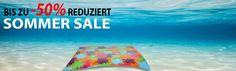 Summer Sale bis zu -50% in Zusammenarbeit mit BILD.de – Fussmatten & Teppiche für Ihr Zuhause Beach Mat, Summer, Outdoor Blanket, Rugs, Tips And Tricks, Ad Home, Summer Time