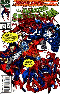 Amazing Spider-man (Marvel, Maximum Carnage, 7 of Venom, Carnage Marvel Comics, Marvel E Dc, Marvel Comic Books, Comic Book Characters, Marvel Heroes, Comic Books Art, Marvel Avengers, Comic Art, Marvel Universe