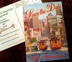 Vintage San Francisco Postcard Save the Date by PowerhousePaper, $1.95