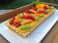 Tartaletky s mangovo-maracujovým krémem 🥭 Fruit Salad, Baked Goods, Waffles, Mango, Cheesecake, Cupcakes, Baking, Breakfast, Pastries