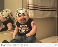 Biker Baby / #cool #cute #kids #children