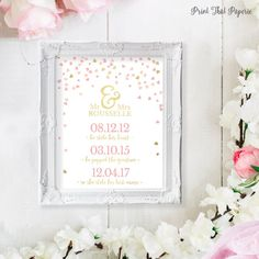 Love Story Bridal Shower Sign  Personalized by PrintThatPaperie
