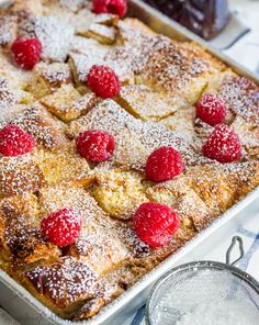 Overnight Raspberry Cream Cheese French Toast Bake - Tornadough Alli