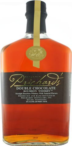 Prichard's Double Chocolate Bourbon.  Aged for upwards of 14 years, this chocolate-infused #bourbon #whiskey earned a score of 90 points at the Ultimate Spirits Challenge. | @Caskers