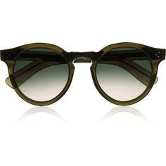 Illesteva Leonard 2 round-frame acetate sunglasses ($260) ❤ liked on Polyvore