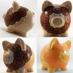 Piggy banks on pinterest piggy bank personalized piggy Decorative piggy banks for adults