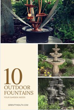 An outdoor water feature is sure to make the perfect addition to your landscaping or gardens. Find many unique garden fountains in various outdoor fountain and garden fountain styles in durable materials, such as resin, cast stone, fiberglass, copper, wood, slate and stainless steel. Your wallet will be even more restful with a solar fountain that costs nothing to run. Many of our fountains and accessories ship for free the day you order on top of our guaranteed low prices.