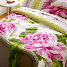 Bright large peonies make the DG Charlottenberg Bedding fit for Spring 2013