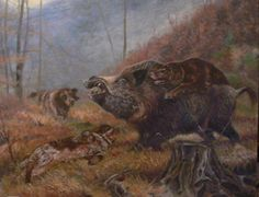 bulgarien red deer - Buscar con Google Wild Boar Hunting, Hunting Art, Hunting Drawings, American Animals, Guy Drawing, Outdoor Art, Wildlife Art, Mans Best Friend, Prehistoric