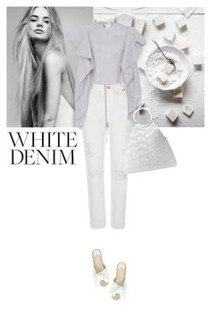 """white denim"" by saramoreira ❤ liked on Polyvore featuring Chantelle, Patricia Padrón, Paloma Barceló and Michael Kors"