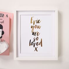 Personalised 'You Are So Loved' Foil Print by Lily Rose Co., the perfect gift for Explore more unique gifts in our curated marketplace. Customized Gifts, Personalized Gifts, Rose Gold Foil, Anniversary Gifts, Wall Art Prints, Card Stock, Unique Gifts, Lily, Typography