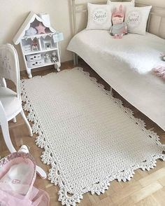 Do Crocheted rug gorgeous but just inspiration