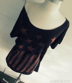 WobiSobi: Stars and Stripes, Bleached T-Shirt: DIY.