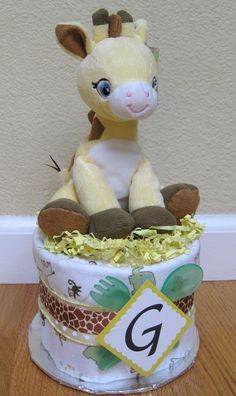 Mini diaper cake - use for new moms at MOPS