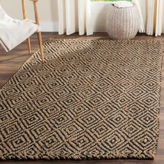 Shop for Safavieh Handmade Natural Fiber Diamond Geo Natural/ Black Jute Rug - X Get free delivery at Overstock - Your Online Home Decor Store! Get in rewards with Club O! Natural Fiber Rugs, Jute Rug, Online Home Decor Stores, Online Shopping, Home Decor Outlet, Rug Making, Decoration, Colorful Rugs, Hand Weaving