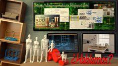 Infografías realizadas con Blender, promoción del Blog - Disseny Producte.