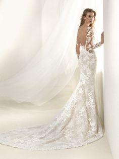 Vestido de novia espalda redonda